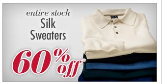 60% Off* Silk Sweaters