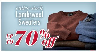 Up To 70% Off* Lambswool Sweaters