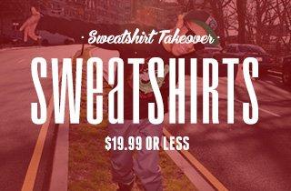 Sweatshirts: $19.99 Or Less