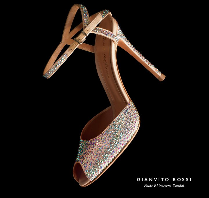 Light on your feet: Shop New Year's-worthy shoes by Gianvito Rossi.