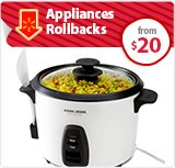 Appliances Rollbacks