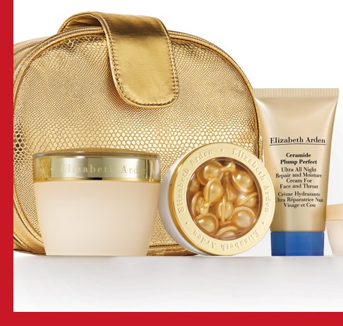 Replenish Your Skin's Ceramide Balance. Give (and get) the gift of ultra smooth  skin with this exclusive set, designed to renew skin's ceramide levels. This online exclusive 4-piece youth-restoring regimen instantly retexturizes skin for a firmer, smoother look and fewer wrinkles. Comes beautifully packaged in a versatile gold top-zip mini clutch.