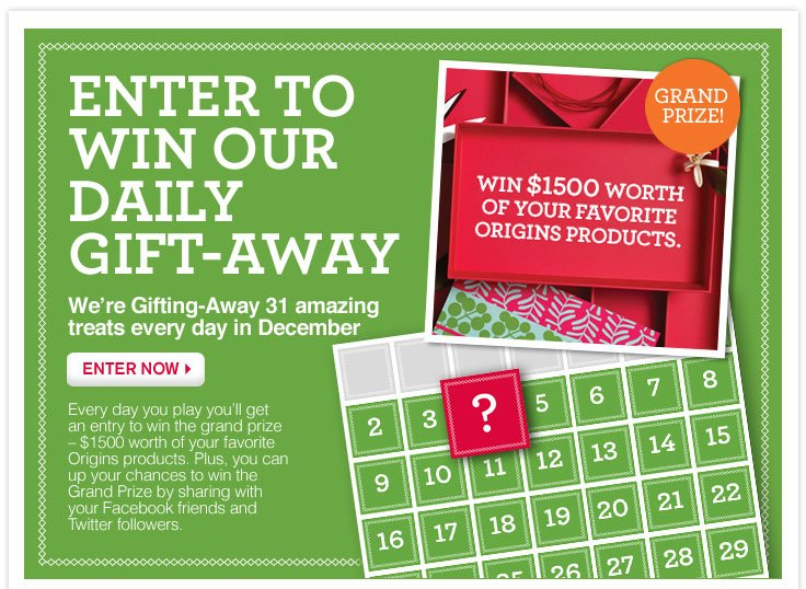 Enter to win our daily gift-away