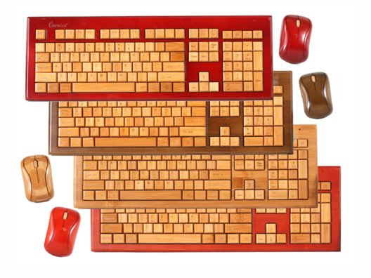 The wireless bamboo mouse and keyboard set is a biodegradable solution to the tech industry's plastic tendencies.