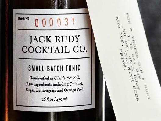 We love serving cocktails made with Jack Rudy Artisan Tonic, a small-batch cocktail syrup brewed in Charleston, South Carolina.