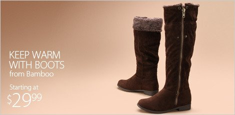 Keep warm with boots from Bamboo