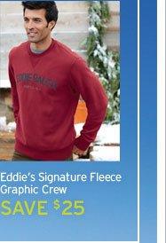 Eddie's Signature Fleece Graphic Crew