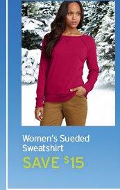 Sueded Crew Sweatshirt