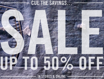 CUE THE SAVINGS...SALE Up To 50% OFF. In Stores & Online