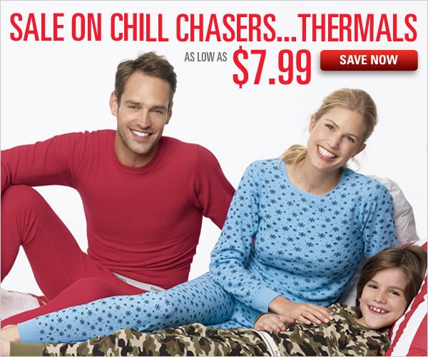 Thermals Sale as low as $7.99
