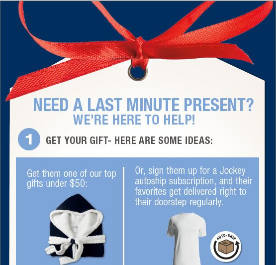Need a last minute present? We're here to help