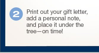 Print out your letter