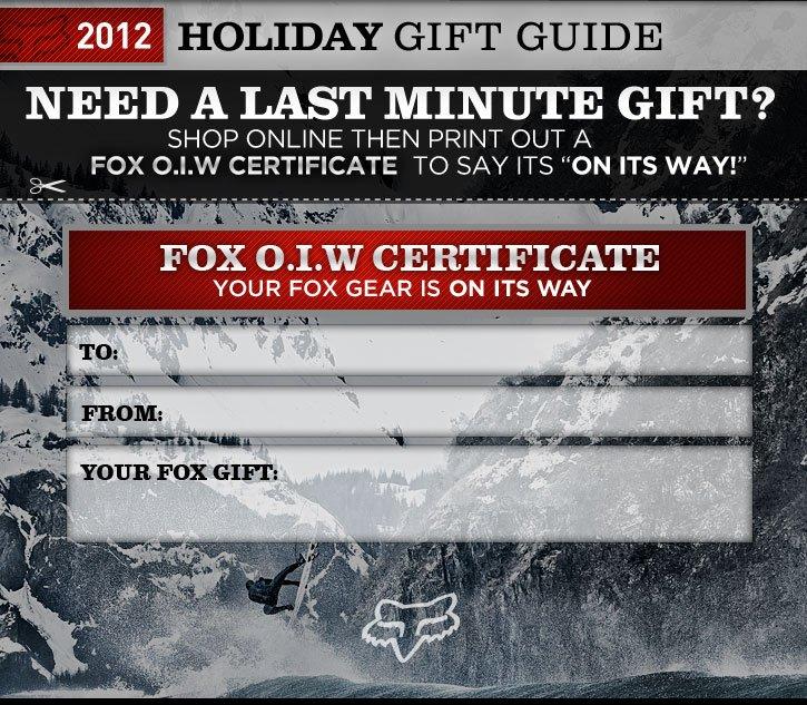 FOX GIFT I.O.W