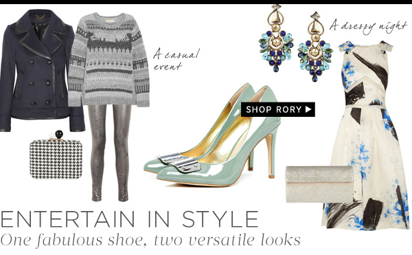 Entertain in Style - One fabulous shoe, two versatile looks