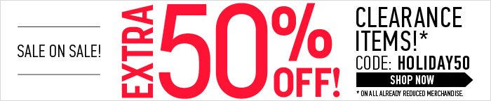 Extra 50% Off Sale Items! - Shop Now