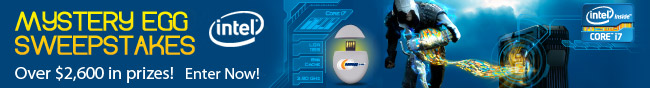 Intel - MYSTERY EGG SWEEPSTAKES. Over $2,600 in prizes! Enter Now!