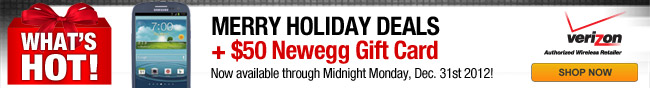 Merry Holiday Deals + $50 Newegg Gift Card