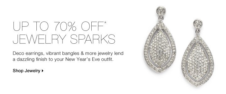 Up To 70% Off* Jewelry Sparks