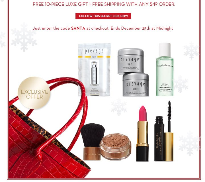 EXCLUSIVE OFFER. FOLLOW THIS SECRET LINK NOW. Just enter the code SANTA at checkout. Ends December 25th at Midnight.