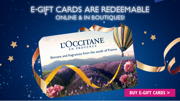E-gift cards are redeemable online & in boutiques and they never expire! BUY E-GIFT CARDS >