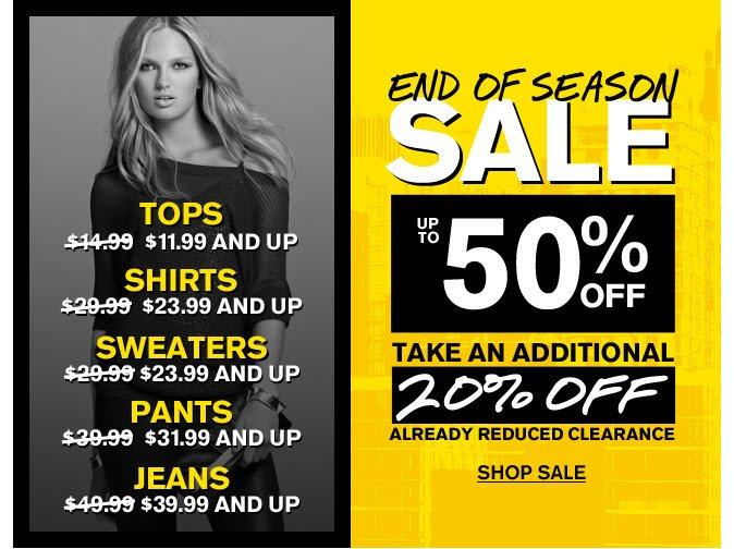 Shop the End of Season Sale