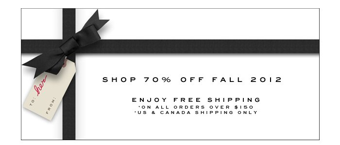 Marc Jacobs | 70% Off Fall 2012