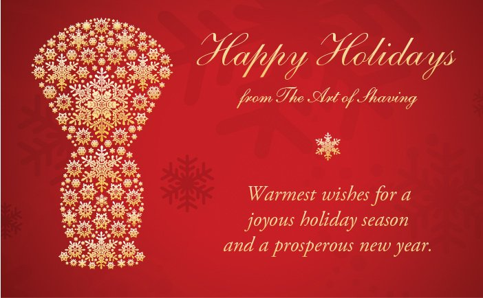 Happy Holidays from The Art of Shaving!