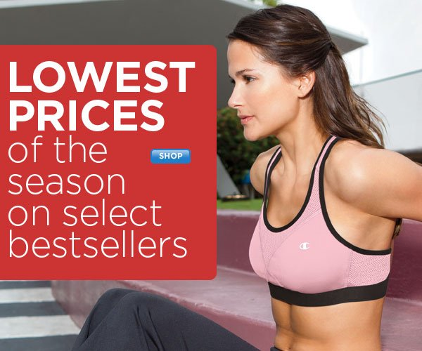 Season's Lowest Prices - Select Bras & More