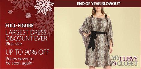 Largest Dress Discount Ever. (Plus Sizes)