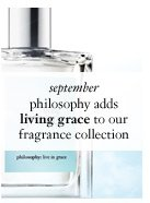 september - philosophy adds living grace to our fragrance collection