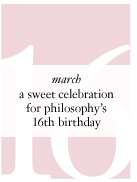 march - a sweet celebration for philosophy's 16th birthday