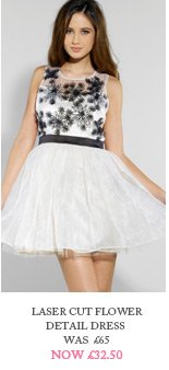 Laser Cut Flower Detail Dress