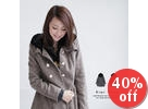 Double-Breasted Hooded Coat
