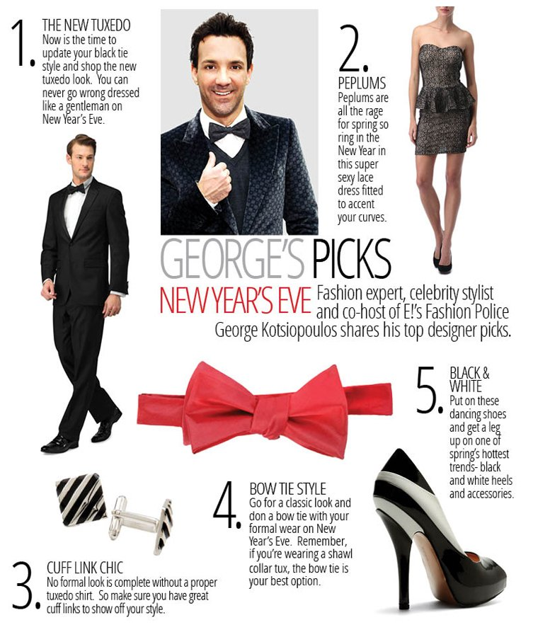 Fashion expert, celebrity stylist and co-host of E!'s Fashion Police George Kotsiopoulos shares his top designer pcks