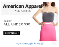 Shop American Apparel: Under $30