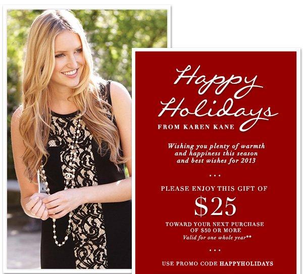 Happy Holidays From Karen Kane