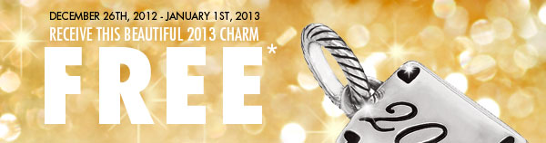 Receive this beautiful 2013 charm free