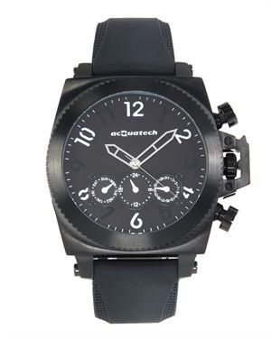 Brand New ACQUATECH Stainless Steel and Rubber Watch