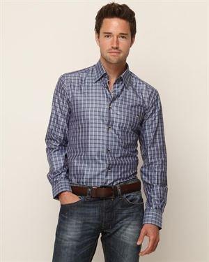 Ike Behar Luke Collared Plaid Shirt $65