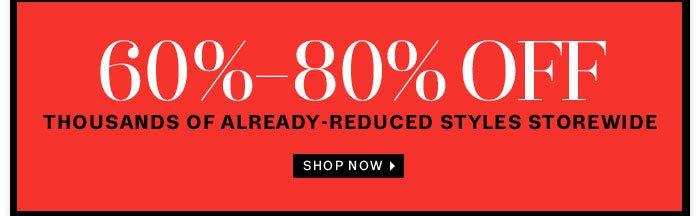 60% - 80% off Shop Now