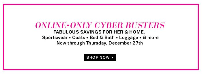 Online - Only Cyber Busters Shop Now