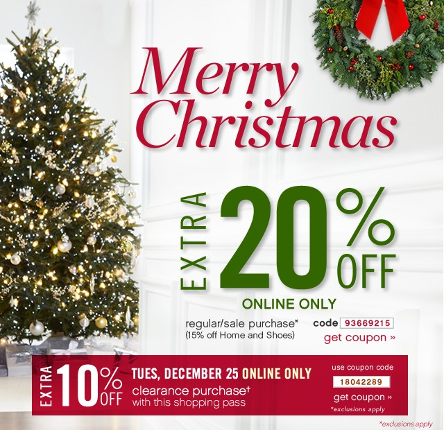 Merry Christmas. Extra 20% off. Get coupon.
