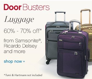 Luggage 60-70% off. Shop now.