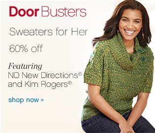 Sweaters for her 60%. Shop now.