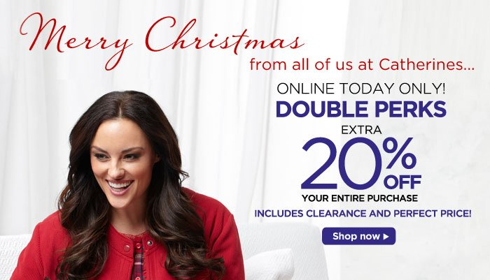 Double Perks Today Only - Save an extra 20% off!