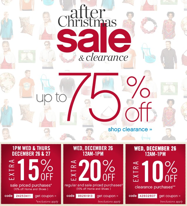 After Christmas sale & Clearance. Up to 75% off. Shop now.