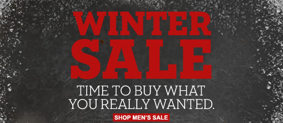 Winter Sale. Time to buy what you really wanted. Shop men's sale
