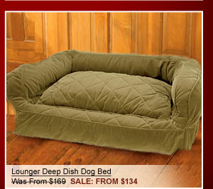 Lounger Deep Dish Dog Bed Was From $169 SALE From $134
