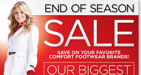 Find the biggest clearance of the season during our End of Season Sale! Get great savings on your favorite styles from UGG® Australia, Dansko, ECCO, ABEO and more of your favorite comfort brands! Get all of the season's best footwear now at The Walking Company's nationwide stores or online at www.thewalkingcompany.com.
