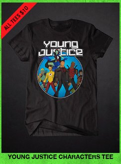 YOUNG JUSTICE CHARACTERS TEE